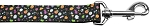 Halloween Confetti Nylon Dog Leash 5/8 inch wide 4ft Long