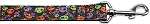 Confetti Skulls Nylon Dog Leash 3/8 inch wide 6ft Long
