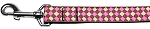 Pink Checkers Nylon Dog Leash 5/8 inch wide 4ft Long