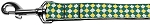 Green Checkers Nylon Dog Leash 5/8 inch wide 6ft Long