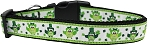 St. Patty's Day Party Owls Nylon Dog Collar SM