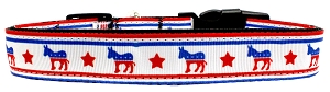 Political Nylon Democrat Dog Collar XL