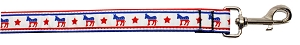 Political Nylon Democrat Pet Leash 5/8in by 6ft