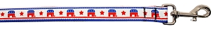Political Nylon Republican Pet Leash 1in by 4ft