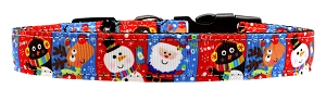 Christmas Buddies Nylon Dog Collar MD Narrow