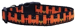 Witches Brew Nylon Dog Collar Medium Narrow