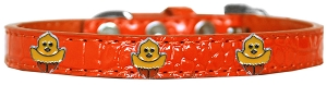 Chickadee Widget Croc Dog Collar Orange Size 10
