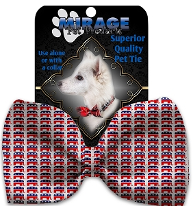 Republican Pet Bow Tie Collar Accessory with Velcro