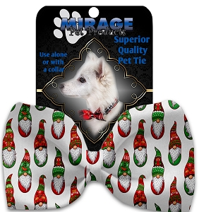Santa Gnomes Pet Bow Tie Collar Accessory with Velcro