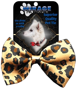 Leopard Pet Bow Tie Collar Accessory with Velcro