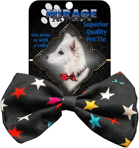 Confetti Stars Pet Bow Tie Collar Accessory with Velcro