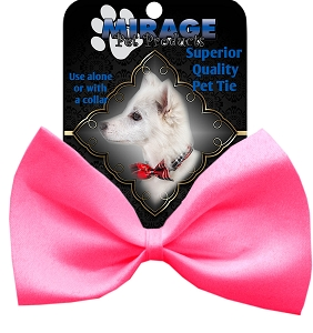 Plain Hot Pink Pet Bow Tie Collar Accessory with Velcro