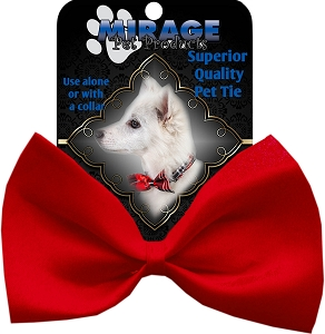 Plain Red Pet Bow Tie Collar Accessory with Velcro