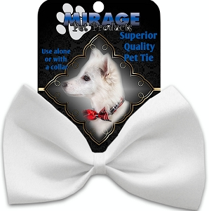 Plain White Pet Bow Tie Collar Accessory with Velcro