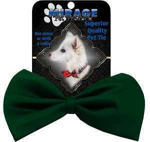 Plain Emerald Green Pet Bow Tie Collar Accessory with Velcro