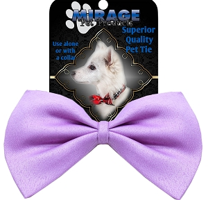 Plain Lavender Pet Bow Tie Collar Accessory with Velcro