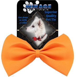 Plain Orange Pet Bow Tie Collar Accessory with Velcro