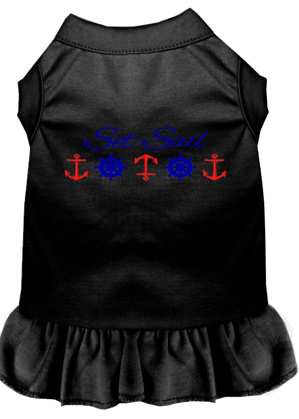 Set sail embroidered dog dress black xxl 18 for Xxl 18 xxl 2012 black