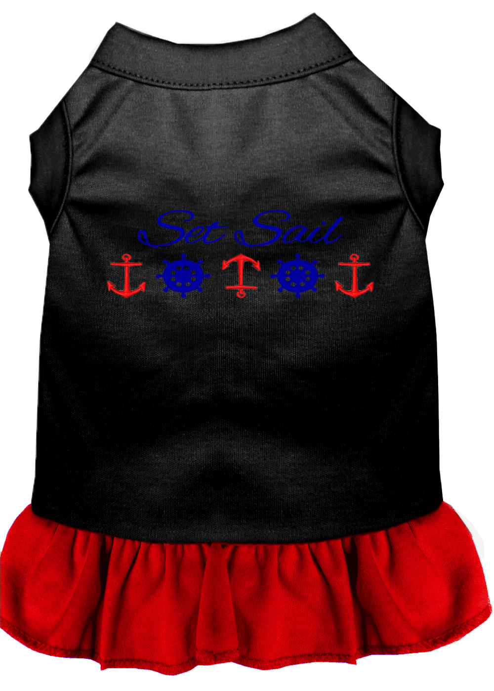 Set sail embroidered dog dress black with red xxl 18 for Xxl 18 xxl 2012 black