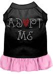 Adopt Me Rhinestone Dresses Black with Light Pink Med (12)