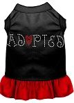 Adopted Rhinestone Dresses Black with Red XS (8)