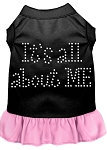 Rhinestone All About me Dress Black with Light Pink XS (8)