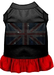 Rhinestone British Flag Dress Black with Red Med (12)