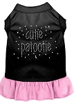 Rhinestone Cutie Patootie Dress Black with Light Pink Med (12)