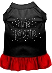 Rhinestone Cutie Patootie Dress Black with Red Med (12)