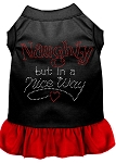 Rhinestone Naughty but in a nice way Dress Black with Red XS (8)