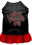 Happy Valentines Day Rhinestone Dress Black with Red Med (12)