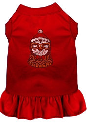 Hipster Penguin Rhinestone Dog Dress Red XS (8)