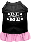 Be Thankful for Me Screen Print Dress Black with Light Pink XS (8)