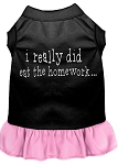 I really did eat the Homework Screen Print Dress Black with Light Pink XS (8)