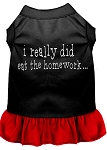 I really did eat the Homework Screen Print Dress Black with Red XS (8)