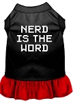 Nerd is the Word Screen Print Dress Black with Red XS (8)