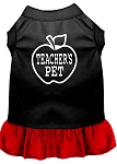 Teachers Pet Screen Print Dress Black with Red Med (12)