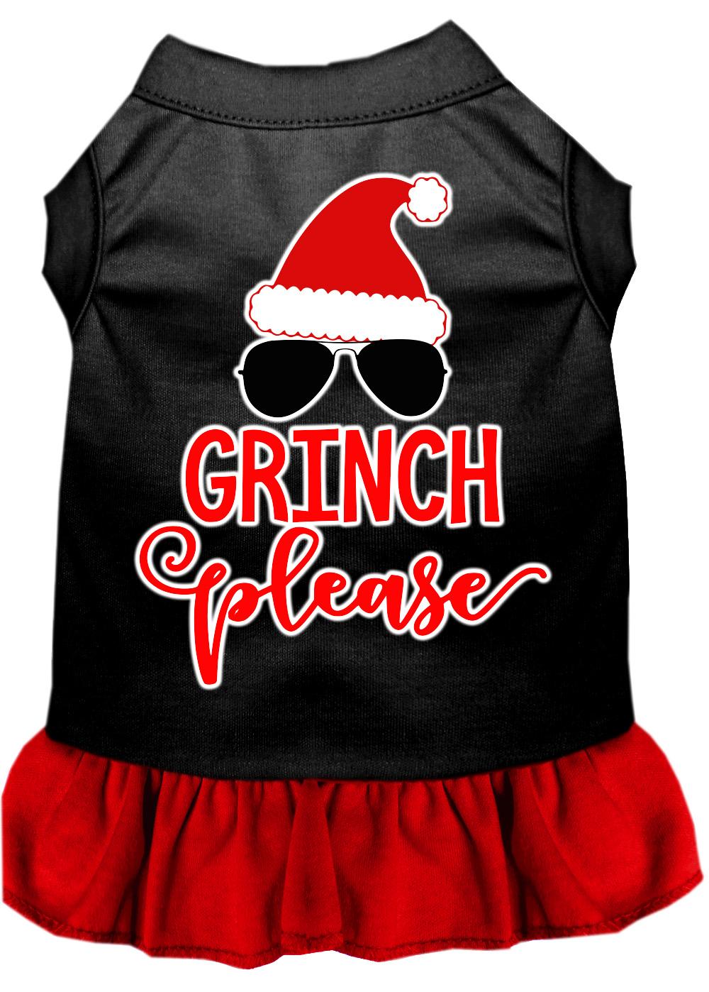 Grinch please screen print dog dress black with red xxl 18 for Xxl 18 xxl 2012 black