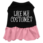 Like my costume? Screen Print Dress Black with Light Pink XS (8)