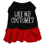 Like my costume? Screen Print Dress Black with Red XS (8)