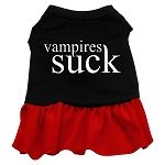 Vampires Suck Screen Print Dress Black with Red XS (8)