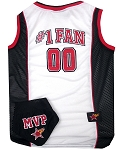 Basketball Pet Jersey and Bandana Combo Black Medium