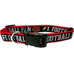 Football Dog Collar Black Medium