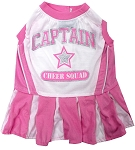 Football Pet Cheerleader Pink Medium