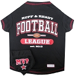 Football Pet Shirt with Bandana Black XS