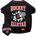 Hockey Pet Shirt with Bandana Black Medium