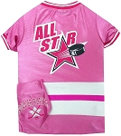 Hockey Pet Jersey and Bandana Combo Pink Large