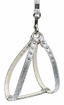 Step-In Harness Silver w/ Clear Stones 10