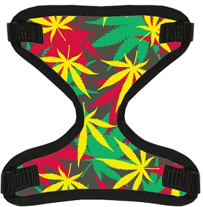 Rasta Mary Jane Canvas and Mesh Pet Harness Medium