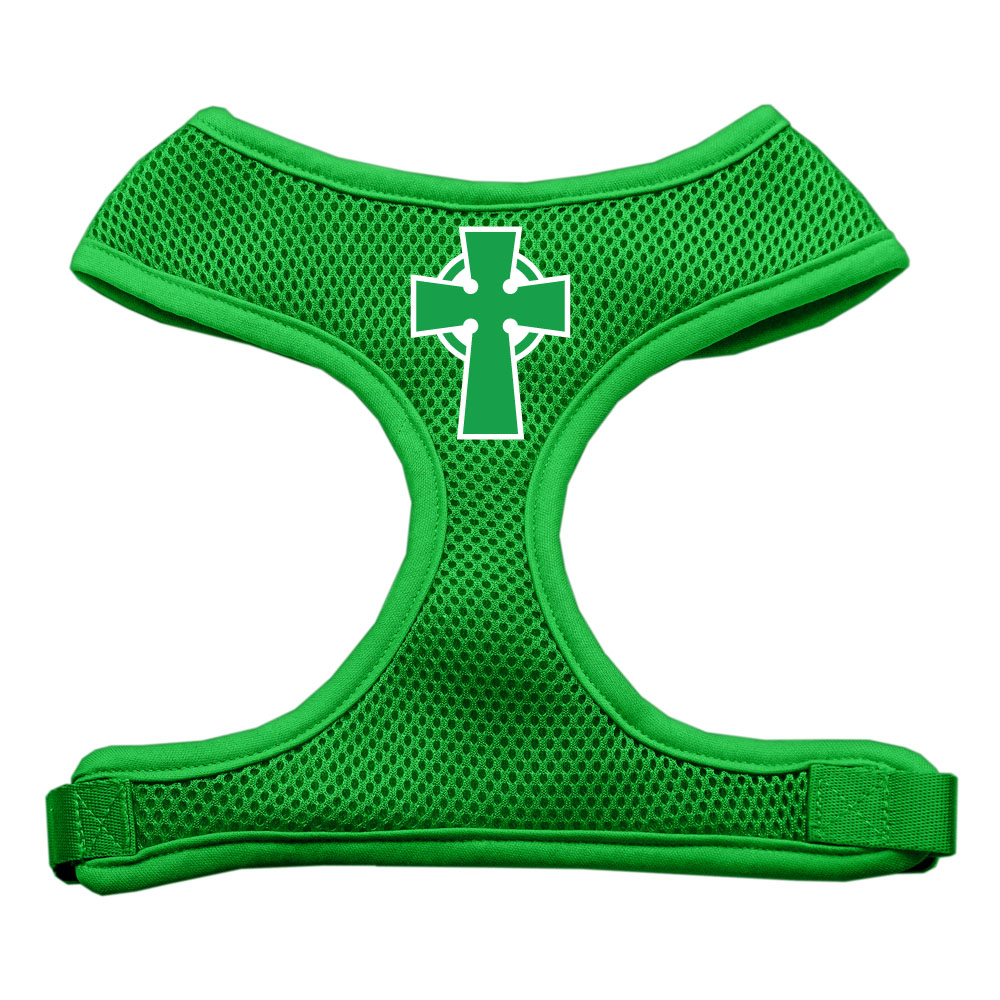 Celtic cross screen print soft mesh harness emerald green large voltagebd Images